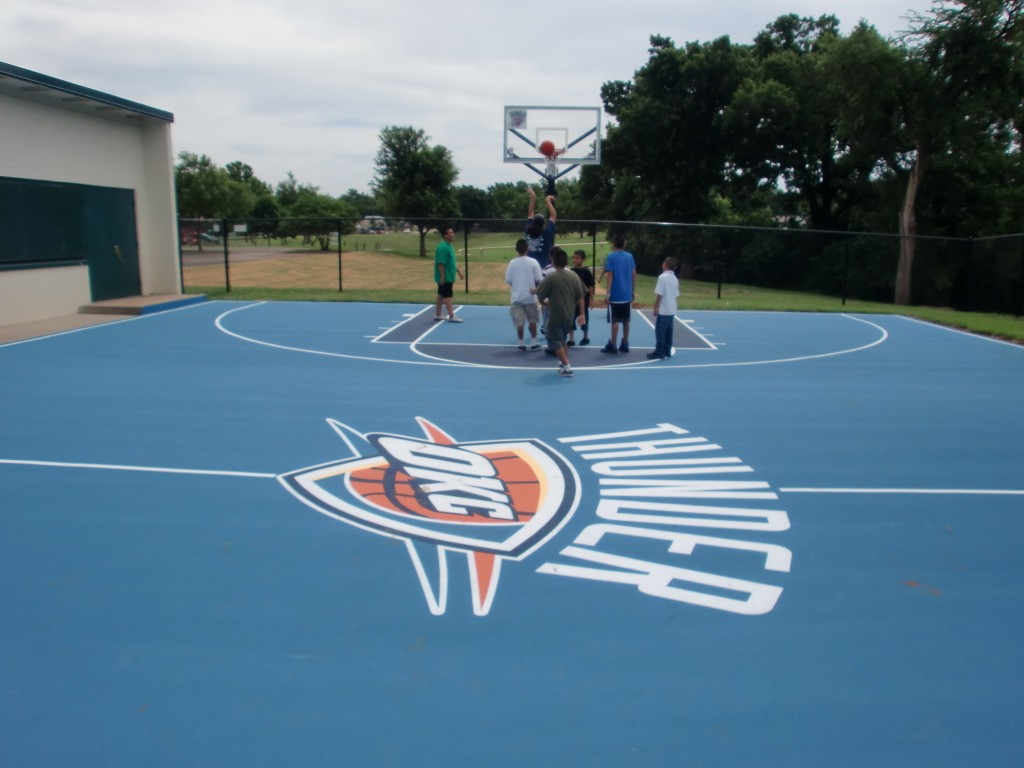 Custom Oklahoma City Thunder Court